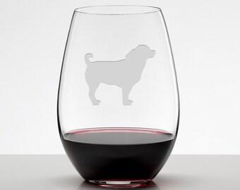Chihuahua Wine Glass, Chihuahua Glass, Etched Stemless Wineglass