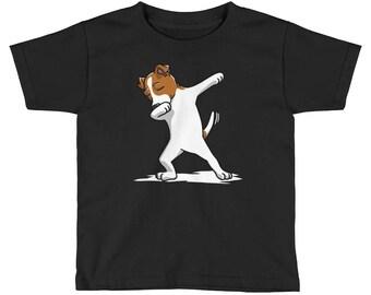 Funny Dabbing Jack Russell Terrier Kids Short Sleeve T-Shirt