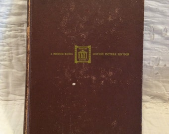 1944 vintage book, Duel In The Sun by Niven Busch, a forum book motion picture edition, Gregory Peck, Jennifer Jones