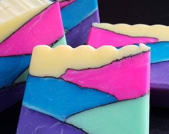 Valley of Colours, Artisan Soap, Handmade CP Soap, Gift Soap, Kids Soap, Teen Soap, Lush Soap, Gift for Her, Novelty Soap
