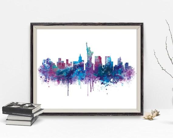 Nueva York horizonte Nueva York ciudad de impresión cartel