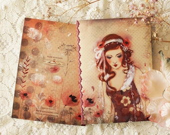 Notebook - Illustrated notebook - A6 - Flower Island