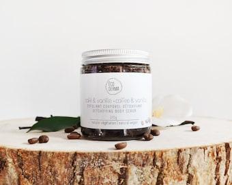 Coffee & Vanilla Body Scrub, coffee scrub, ecoderma, 100% vegan, cruelty-free handmade with love, christmas, vegan gift