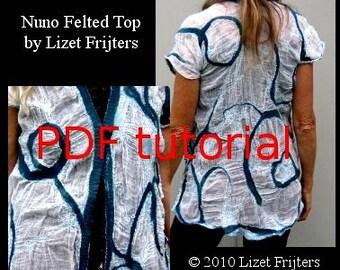 Nuno Felt PDF Tutorial - Pattern - Feltmaking Cotton Nuno Felted Top  Summer Jacket - Instant Download