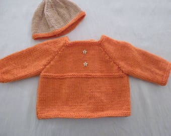 Jacket and hat newborn