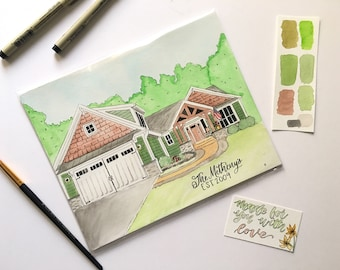 House Portraits, Custom House Painting, Original Watercolor House Portraits, Custom Paint House, Housewarming Gift, Watercolor house