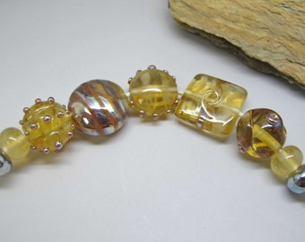 Bubbly - Lampwork Bead Set