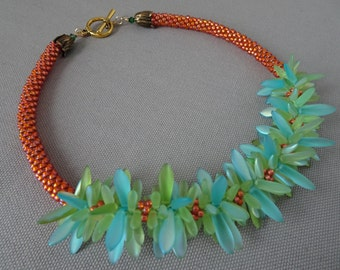 Jungle Paradise Kumihimo Necklace