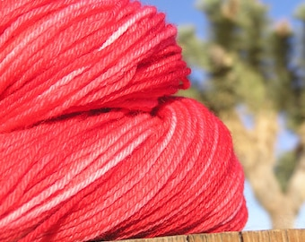 Sport Weight Yarn - BFL Wool -  Indian Paintbrush