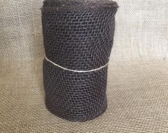 """Brown Burlap Ribbon - 5.5""""x15ft"""