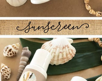 Beach Wedding Favours - Personalized Sunscreen Favor - Beach Wedding Favor Ideas Beach Party Favors Custom Sunscreen (EB2030TPB) set of 12|