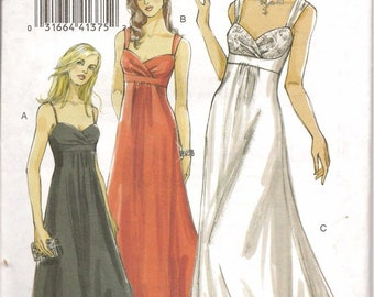 Vogue Sewing Pattern V8360 Misses Lined Evening Dress Size 6-10