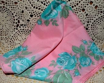 Vintage Nasharr Floral Scarf Made In Japan