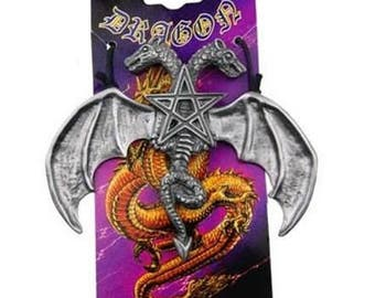Dragon pendant with a two-headed pentacle