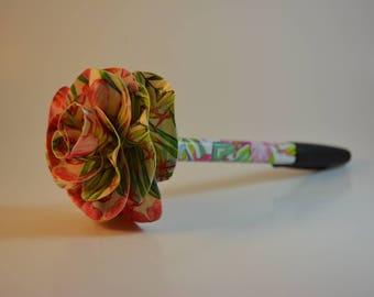Tropic floral duct tape flower pen