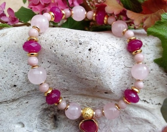 Bracelet pink and Fuchsia