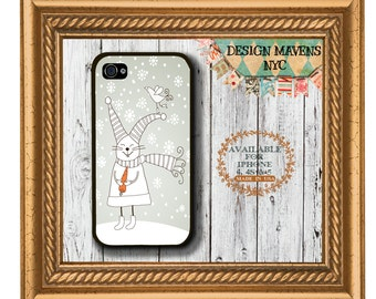 Snow Bunny iPhone Case, Christmas Rabbit iPhone Case, Cute Bunny Phone Case, iPhone 4, 4s, iPhone 5, 5s, 5c, iPhone 6, 6 Plus, Phone Cover