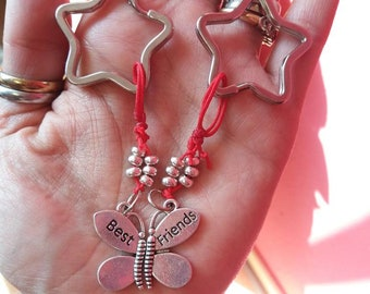 Butterfly keychains of friendship. Forever friend.