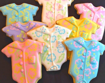 Hawaiian Onsies - sugar cookies