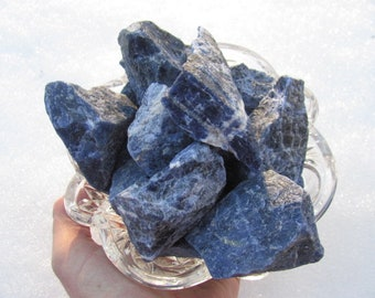 "Sodalite, Raw Blue Sodalite Stones, Rough Sodalite - 1.5"" - 3"" - Minas Gerais, Brazil"