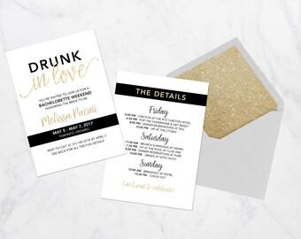 Bachelorette Party Invitation, Printable Bachelorette Party Invitation, Digital Bachelorette Party Invite