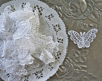 6 Butterfly Venise Lace Applique