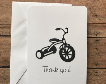Tricycle Card Set, Thank You Card Set, Trike Card Set, Bike Card Set, Greeting Card Set, Stationery Set, Blank Note Card Set and Envelopes