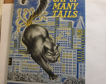 Ellery Queen Cat of many tails 1949 book club edition vg/dj