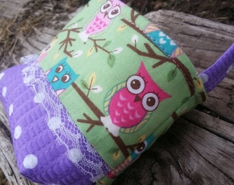 Baby's First Purse, Tiny Purse, Purse for One Year old,  Owl  Purse, Little Girl's Purse