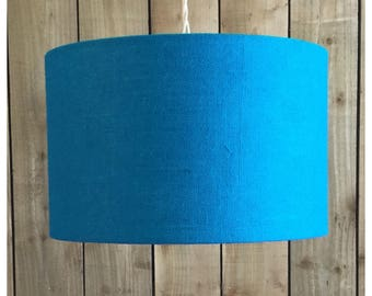 Blue Hessian Light Shade Lamp Shade 25cm 30cm 35cm 40cm 45cm 50cm 60cm 70cm