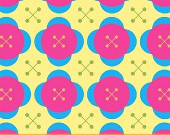 Melanie Hurlston for Windham, Little Menagerie, Large Button in Yellow  (32077-4) -1 Yard Clearance