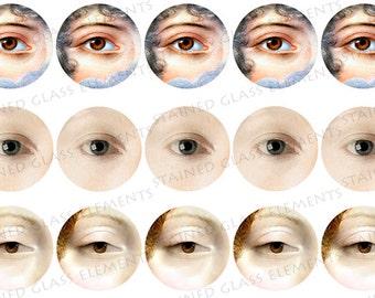 Georgian lover's eyes ceramic decals, decals sheet, eye, ceramic decals for pedants, ceramic decal sheet, eye decals, decals for enamelling