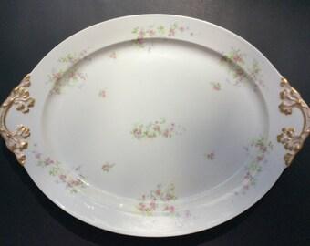 Limoges Serving Platter/ Hand Painted Serving Platter by Limoges