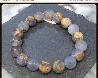 50% Mega Sale Natural Blue Chalcedony Gemstone Bracelet