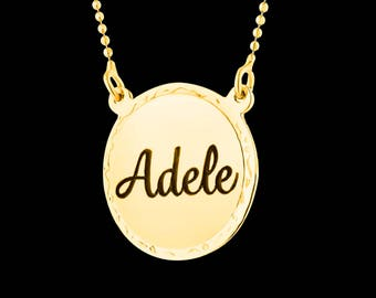 Personalized Name Necklace - Custom Name Necklace - Engraved Name Necklace - Gold Name Necklace - Personalized Necklace - Personalized Gift