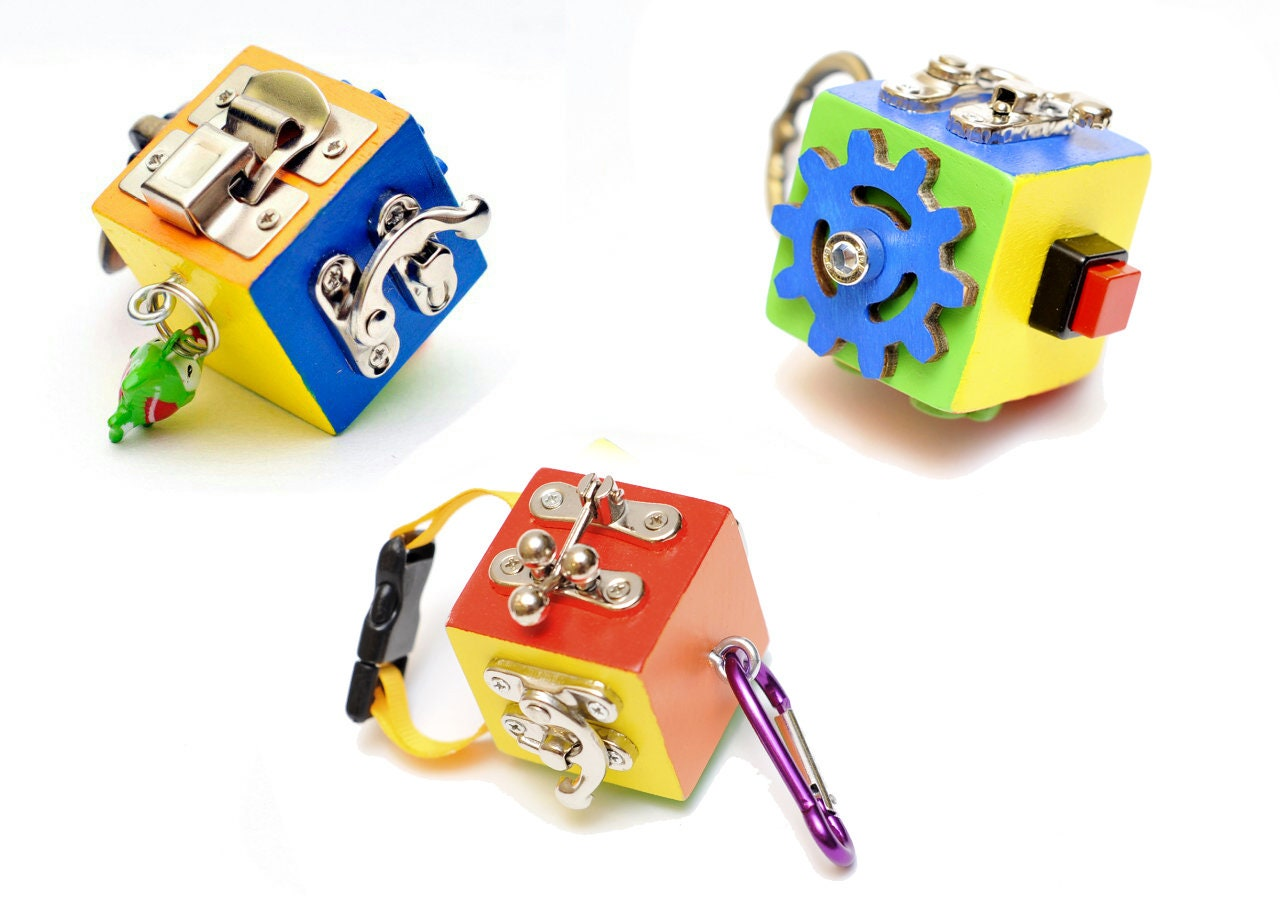Travel toy set Toddler BUSY CUBE Montessori toy Fidget Busy