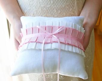 Wedding Ring Pillow, Pink Ring Pillow, Ring Pillow, Ring Bearer