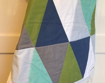 Ready to ship! Modern Geometric baby quilt | Gender Neutral nursery Quilt - Cotton Quilt