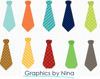 INSTANT DOWLOAD  Ties Clipart  Scrapbook for Personal and Commercial Use