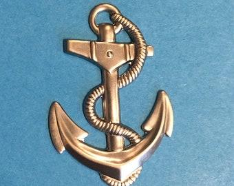 Metal Anchor 3d Navy