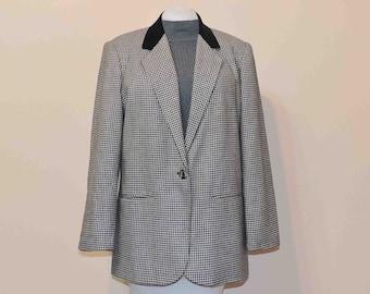 Vintage Houndstooth Women Business Jacket 1980's