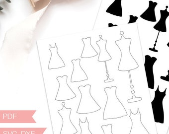 dress pdf template etsy
