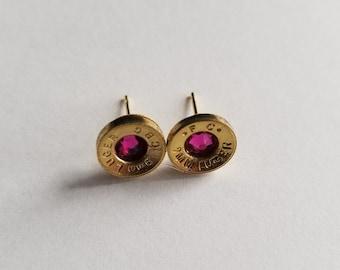 9mm Bullet Stud Earring