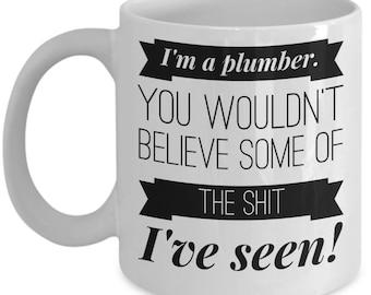 Plumber Gift - Plumber Mug - Gifts for Plumbers - Plumbing Gift - Funny Custom Plumbing Supplies Tools for Men Boyfriend Plumbers