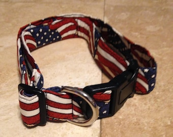 American Flag Dog Collar - Adjustable