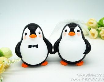Penguin Cake Topper, Custom Cake Toppers, Funny Wedding Cake Topper, Unique Wedding Cake Topper, Bird Cake Topper, Personalised Cake Toppers