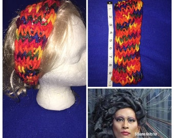 Rainbow Headband, Knit