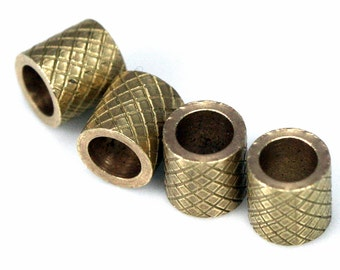 raw brass tube 20 pcs 6 x 6 mm (hole 4 mm) industrial brass charms, findings spacer bead bab4 ttt66
