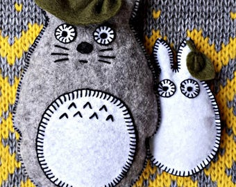 My Neighbor Totoro, anime, felt toys, Hayao Moyazaki, interior decor, anime souvenirs, Totoro brooch, fantasy characters