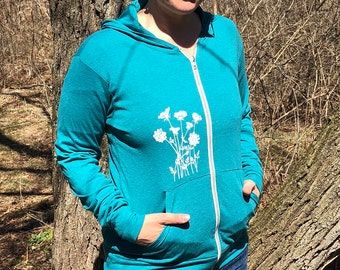 Lightweight Queen Anne's Lace Hoodie